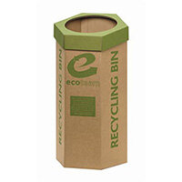 5 Star Cardboard Recycling Bins Pack of 3 - Ideal for your office paper recycling scheme - Supplied flat packed, easy to assemble - 100% recycled material of which 50% is post consumer waste
