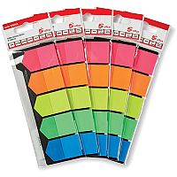 5 Star Office Index Flags Arrows 25mm Assorted  Pack 5