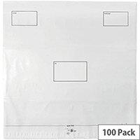 5 Star Elite DX Bags Self Seal Waterproof 475x440mm White  Pack 100