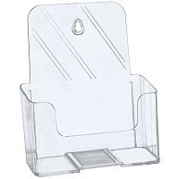 5 Star A5 Literature Holder For Desktop Use Or Optional Wall Mounting. Brochure Holder Is Slanted & Clear. Ideal For Use In Receptions, Tourist Offices, Restaurants & More.