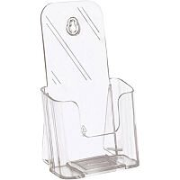 5 Star Office  1/3 A4  Literature Holder Slanted  Clear
