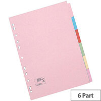 5 Star Office File Dividers A4 6 Part