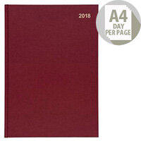 5 Star Office 2018 Diary Day to Page A4 Red