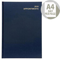5 Star Office 2018 Appointment Diary Day to A Page A4 Blue