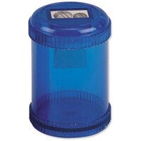 5 Star Office Pencil Sharpener Plastic Canister Max Diameter 8mm Double Hole Coloured Pack of 10