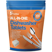 5 Star Facilities All-in-One Dishwasher Tablets Pack of 100 Tablets