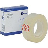 5 Star Elite Easy Tear Tape PP 1in Core 18mm x 33m Clear