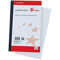 5 Star Office Duplicate Book 100 Sets Ruled Indexed Perforated 210 x 130 mm Ref 942534
