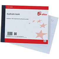5 Star Office Duplicate Book 100 Sets Ruled Indexed Perforated 105 x 130 mm Ref 942555