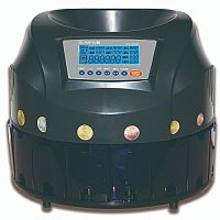 Olympia CC202 Coin Sorter - Takes Up To 500 Coins - Counts 200 Coins/Min - LCD Display