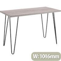 Owen Retro Home Office Desk - Weathered Oak