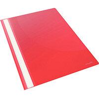 Esselte VIVIDA Plastic Flat Report Files A4 Red Pack of 25