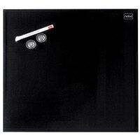 Nobo Diamond Glass Magnetic Whiteboard - Retail Pack 300x300mm Black