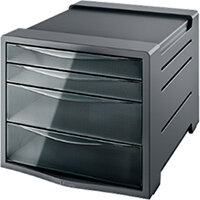 Esselte Intego Drawer Cabinet Smoke Transparent