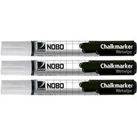 Nobo Chalkmarkers White Pack of 3
