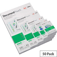 GBC Document Laminating Pouches A2 125 Micron Pack of 50