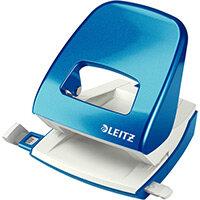 Leitz New NeXXt WOW Metal Office Hole Punch Blister Pk 3mm Metallic Blue