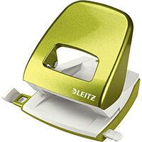 Leitz New NeXXt WOW Metal Office Hole Punch Blister Pk 3mm Metallic Geen
