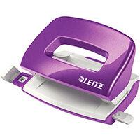 Leitz New NeXXt WOW Mini Hole Punch 10 Sheet Capacity Purple