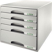 Leitz Plus 5 Drawer Cabinet Grey