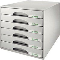 Leitz Plus 6 Drawer Cabinet Grey
