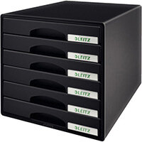 Leitz Plus 6 Drawer Cabinet Black
