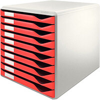 Leitz Form Set 10 Drawers A4 Red