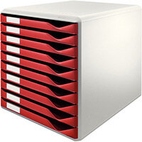 Leitz Form Set 10 Drawers A4 Bordeaux