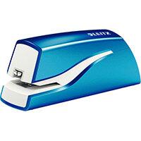 Leitz NeXXt Series WOW Electric Stapler Battery-Powered Metallic Blue