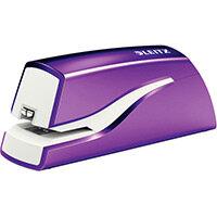 Leitz NeXXt Series WOW Electric Stapler Battery-Powered Purple