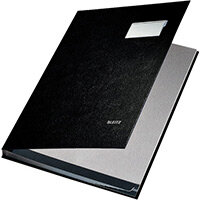 Leitz Signature Book PP Coated With 10 Rigid Card Dividers Black