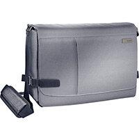 Leitz Complete 15.6in Laptop Messenger Bag Smart Traveller Silver