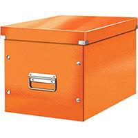 Leitz Box Click & Store Cube Large Storage Box Orange