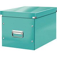 Leitz Box Click & Store Cube Large Storage Box Ice Blue