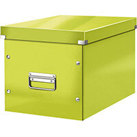 Leitz Box Click & Store Cube Large Storage Box Green