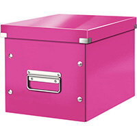 Leitz Box Click & Store Cube Medium Storage Box Pink