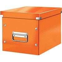 Leitz Box Click & Store Cube Medium Storage Box Orange