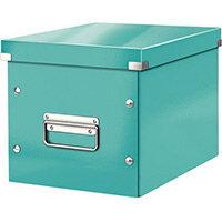 Leitz Box Click & Store Cube Medium Storage Box Ice Blue
