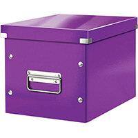 Leitz Box Click & Store Cube Medium Storage Box Purple