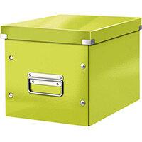Leitz Box Click & Store Cube Medium Storage Box Green