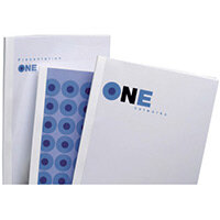 GBC Optimal Thermal Binding Covers A4 6mm White Pack of 100