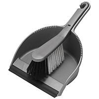 Addis Soft Dustpan/Brush Set Metallic
