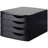 Jalema 4 Drawer Desktop Set Black 2686374299