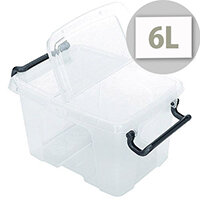 Strata Smart Storage Box With Clip On Lid 6 Litres Clear