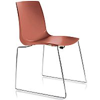 ARI Brown Sled Base Canteen Stacking Chair