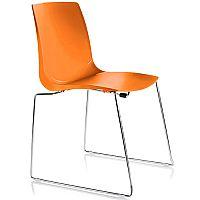 ARI Orange Sled Base Canteen Stacking Chair
