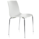 ARI White Stacking Chair