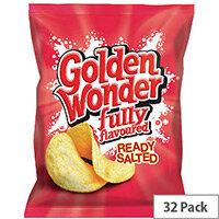 Golden Wonder Ready Salted Crisps Pack of 32 121300