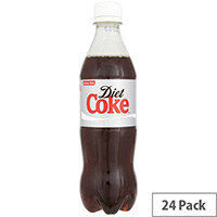 Coca-Cola Diet Coke Soft Drinks 500ml Bottle (Pack 24) 100187