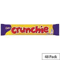 Cadbury Chocolate Crunchie Bars Pack 48 100140
